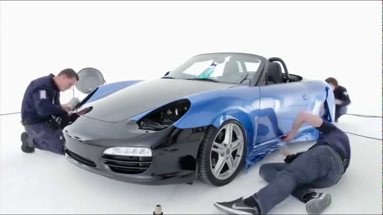 Avery Supreme Wrapping Film Porsche Car Wrap Gloss Bright Blue