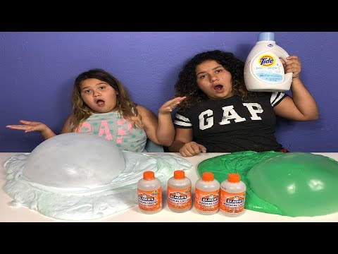 TIDE FLUFFY SLIME VS ELMERS MAGICAL LIQUID FLUFFY SLIME (ELMERS SLIME ACTIVATOR)