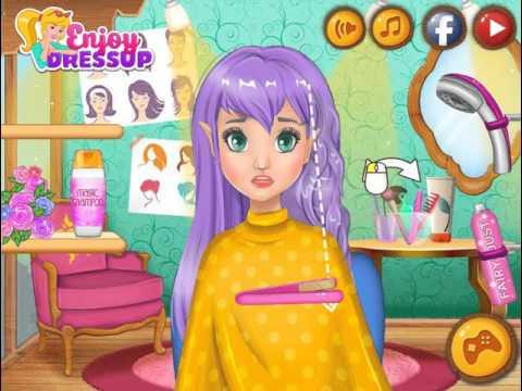 Мультик игра Парикмахерская в волшебном лесу (Enchanted Forest Hair Salon)