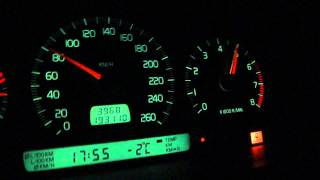 Volvo c70 2.3 T5 Acceleration 0-185km/h Stock