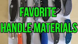Favorite, Second Favorite, and Least Favorite Handle Material (Open Tag)