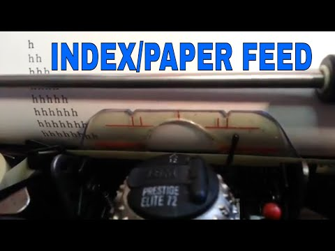 IBM Selectric Typewriter Platen Index Paper Feed Adjustments Operations Detent Roller Repair