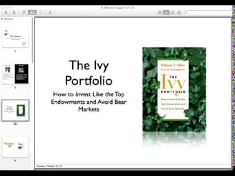 How Mebane Faber published his best selling finance book, The Ivy Portfolio