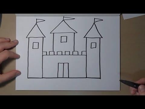 Как нарисовать замок видео урок