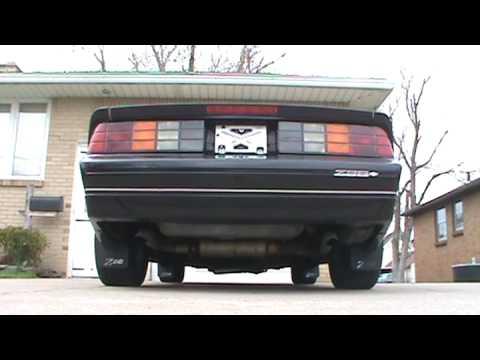 Gen 5 Camaro >> LT1 3rd Gen Camaro Exhaust - YouTube