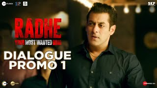 Radhe: Dialogue Promo 1 | Salman Khan | Randeep Hooda | Prabhu Deva | 13th May