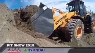 Hyundai Construction Equipment at the A.L.P.A. Equipment Ltd. Pit Show 2015