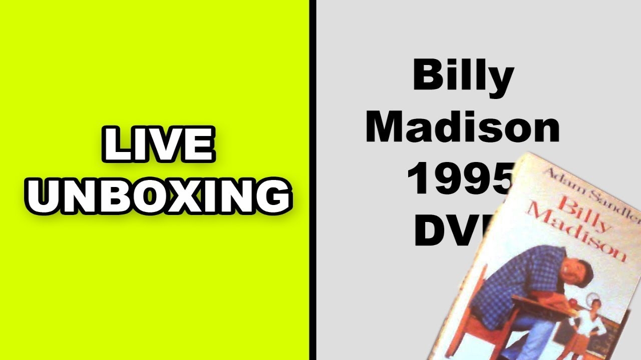 Download Billy Madison 1995 RARE DVD Unboxing!
