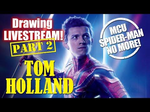 drawing-livestream:-mcu-spider-man,-tom-holland!!!-(part-2)