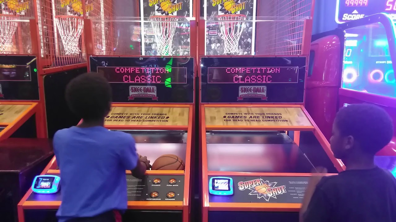 Playing Basketball At Dave and Busters