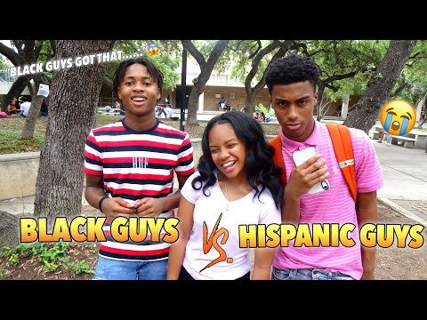 WHICH DO YOU PREFER BLACK GUYS OR HISPANIC GUYS😭 | PART 2 | PUBLIC INTERVIEW from YouTube · Duration:  8 minutes 41 seconds