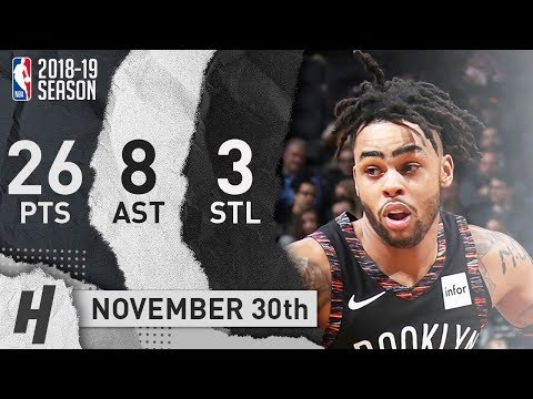 D'Angelo Russell Full Highlights Nets vs Grizzlies 2018.11.30 - 26 Pts, 8 Ast, 3 Steals!