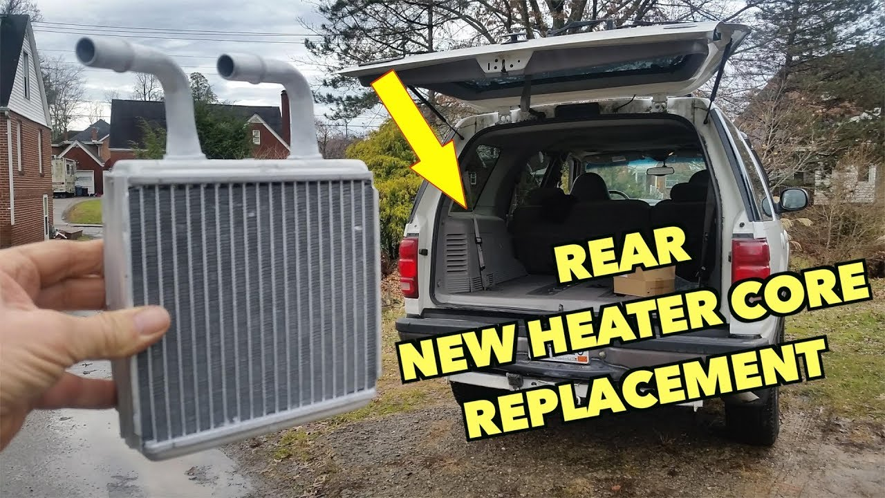 medium resolution of expedition rear heater core replacement