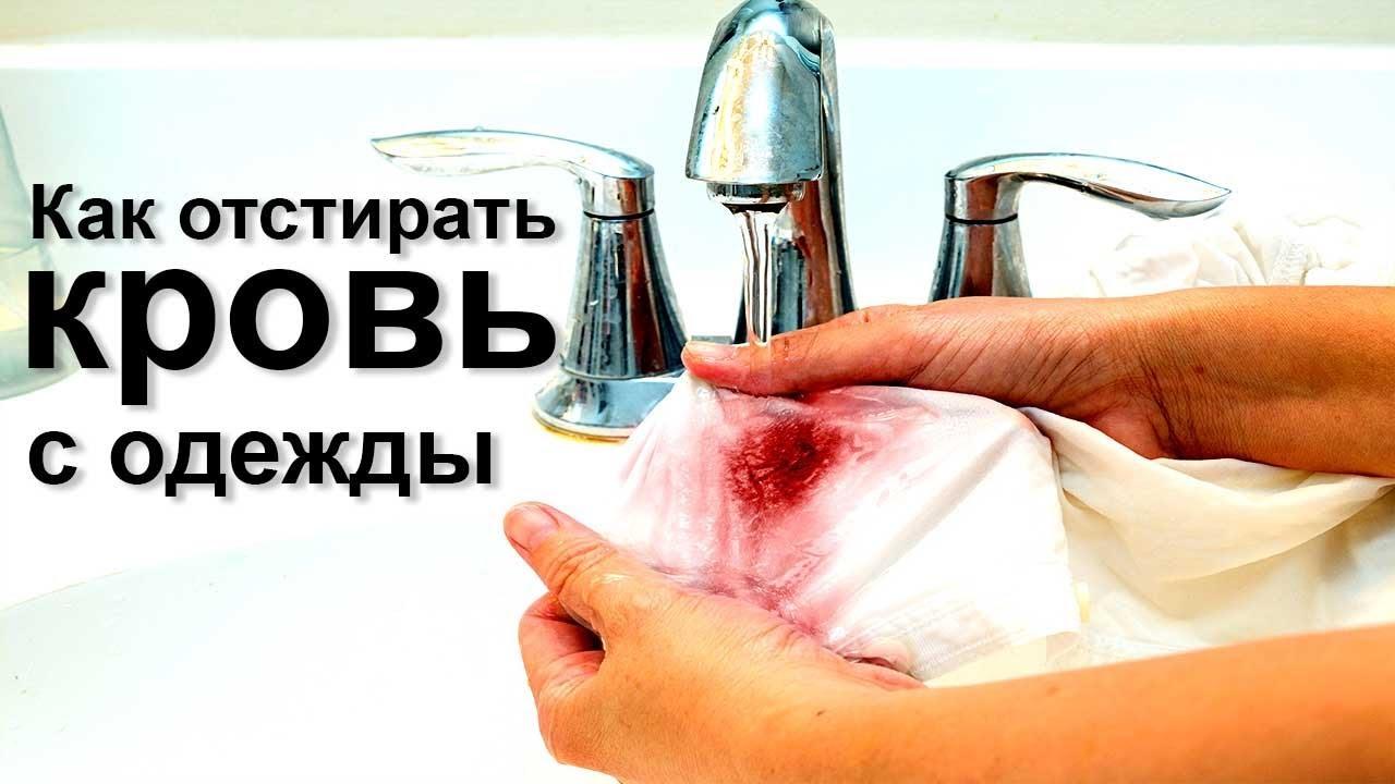 Как отстирать кровь с одежды Чем отмыть пятна крови