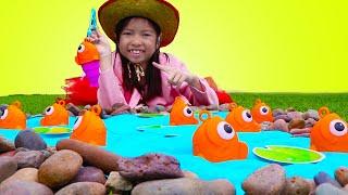 Giả vờ chơi câu cá và cắm trại vời Wendy ! Các hoạt động mang tính chất gia đình vui vẻ