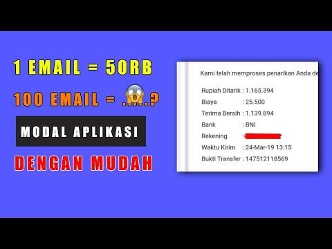 🔴DAPAT 50RB MODAL 1 EMAIL   Cara Menghasilkan Uang Dari Internet