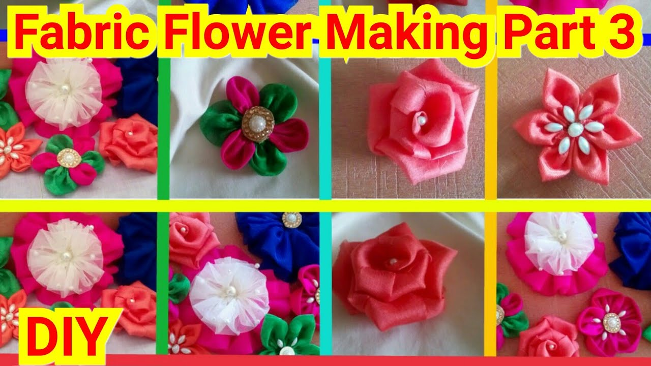 Flower Making Fabric Flower Making Step By Step Diy How To