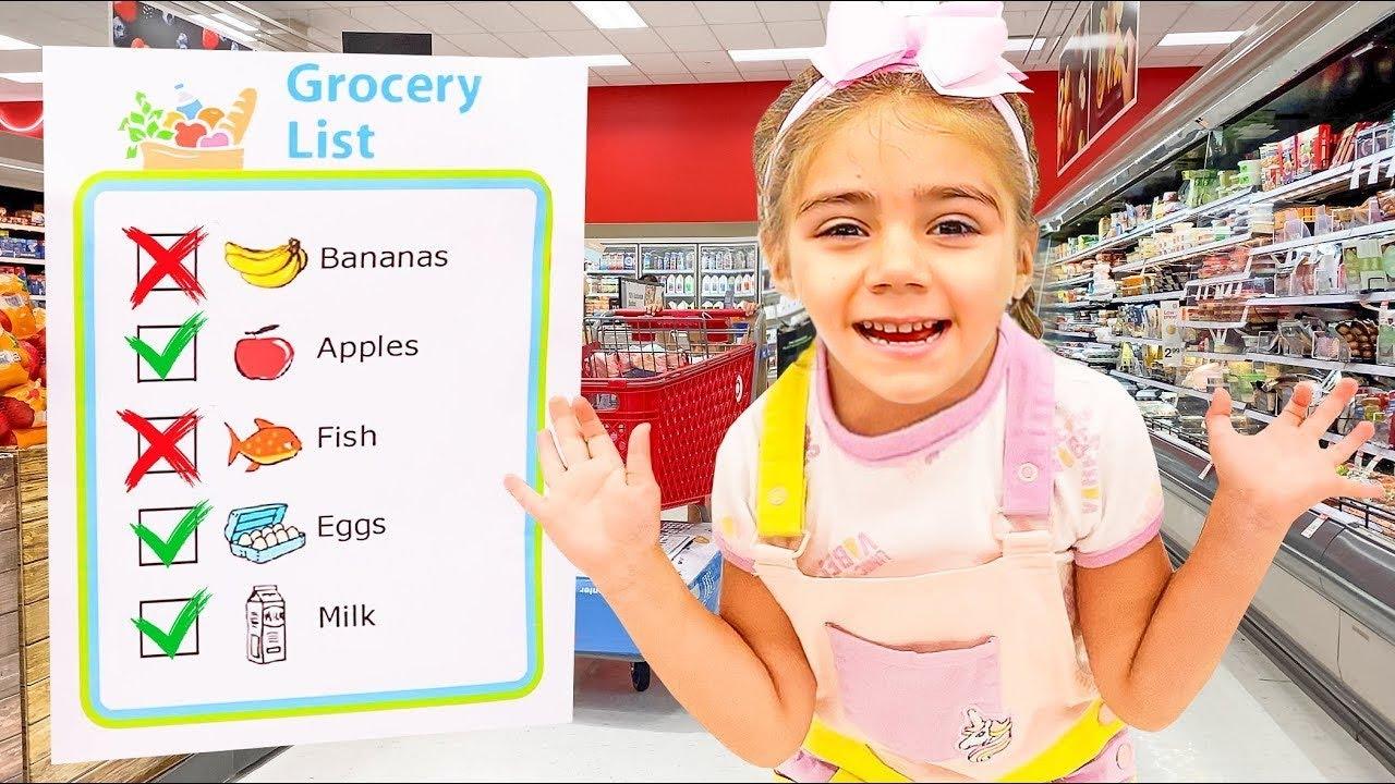 Mia and her Grocery List ✅ Nastya Artem Mia