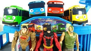 Tayo the Little Bus Toys, Superman, Badman. Toy for kids. 99 Toys.