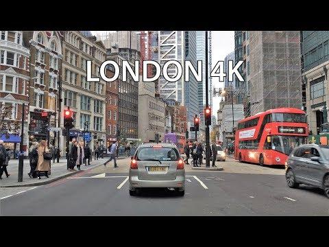 London 4K - Skyscraper District Drive - City of London