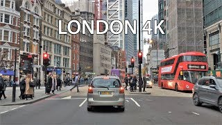 London Drive 4K - London Skyscraper District - UK