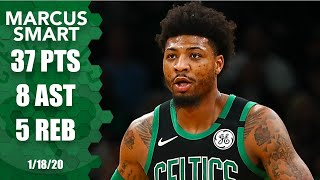 Marcus smart breaks the celtics record for most three-pointers made in a single game with 11 while scoring career-high 37 points, but boston falls to p...