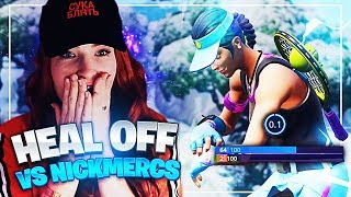HEAL OFF VS NICKMERCS IN POP UP CUP! (Fortnite: Battle Royale) | KittyPlays