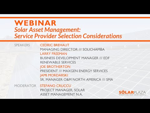 Solar Asset Management: Service Provider Selection Considerations