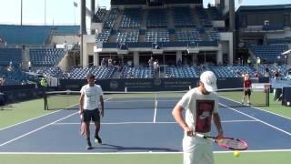 Roger Federer Serve Practice at Cincinnati 2015 #2
