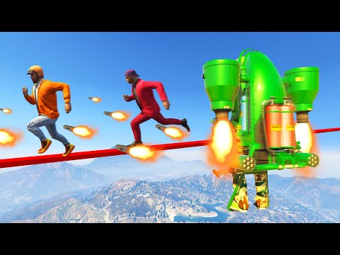 Escape The FLYING ROCKET JETPACKS! (GTA 5 Funny Moments) thumbnail