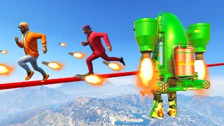 Escape The FLYING ROCKET JETPACKS! (GTA 5 Funny Moments)