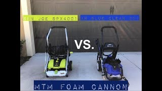 Sun Joe SPX4001 vs  AR Blue Clean 2N1 & MTM Foam Cannon