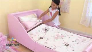 Kidkraft Pink Sleigh Toddler Bed
