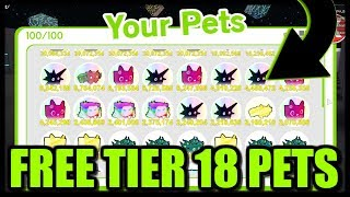 GIVING AWAY FREE TIER 18 RAINBOW PETS! Roblox Pet Simulator