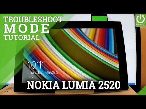 Troubleshoot Mode NOKIA Lumia 2520 - Enter / Quit Recovery Troubleshoot