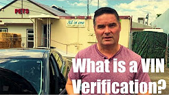 What is a VIN verification?