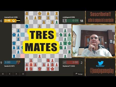 Doy TRES espectaculares JAQUE MATE en ajedrez para cuatro