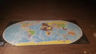 600 piece world puzzle completed