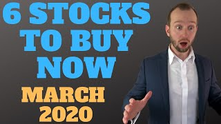 🔥6 Stocks to Buy Now! 💪 Best Stocks to Buy! March 2020 + Apple stock analysis!