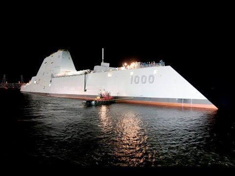 The Pentagon Channel - First DDG 1000 Zumwalt-Class Destroyer Launched [720p]