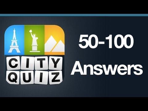 City Quiz Answers Levels 50-100