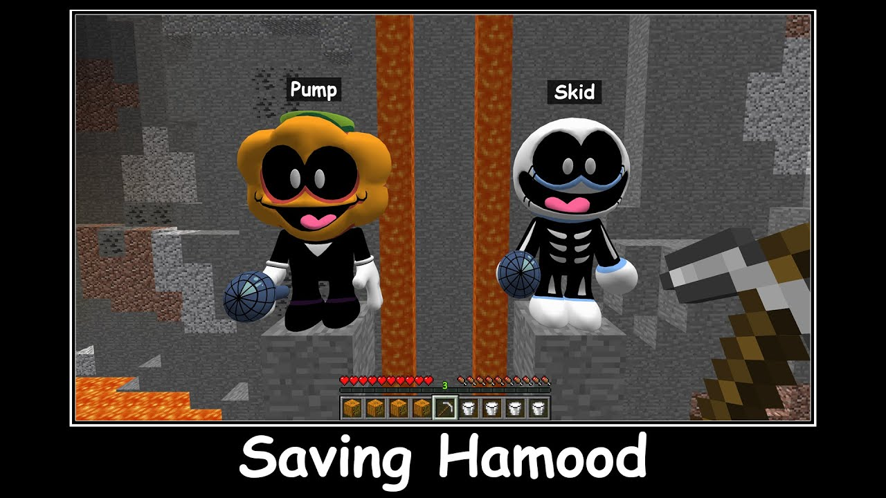 Minecraft FNF Pump vs Skid Saving Hamood And Avocados from Mexico CHALLENGE Animation Part 30
