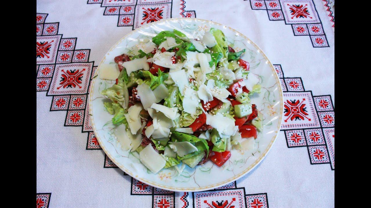 Салат на скорую руку без майонеза