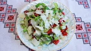 Салат с пекинской капустой,салями,помидором Салаты без майонеза Салаты на скорую руку рецепти салаті