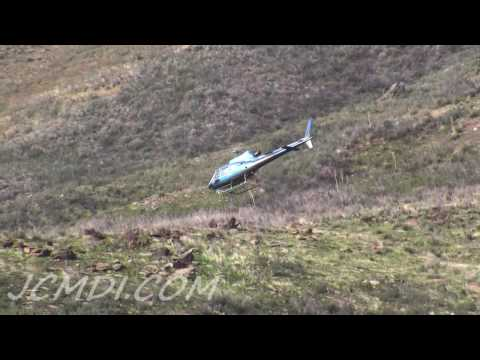 Helicopter flight activity, Bouquet Canyon 500kv Powerline Project
