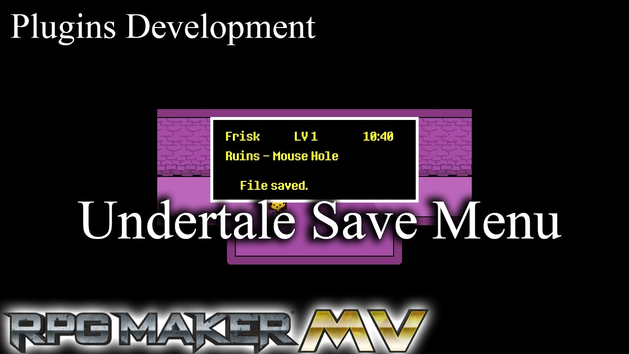 Undertale save menu rpg maker mv youtube for View maker