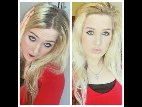 How To Hide Dark Roots on Blonde Hair - YouTube