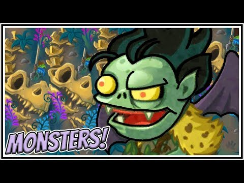 Smash Triassic Monster Deck - Plants vs Zombies Heroes Gameplay
