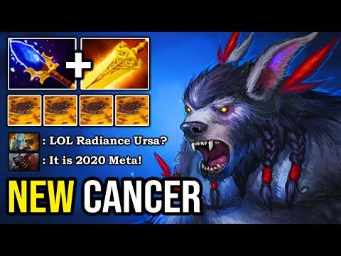 NEW 2020 META SOLO MID URSA With Magical AOE Radiance + Aghanim Build 100% Destroyed Everyone DotA 2