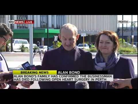 Businessman Alan Bond Dies Aged 77 Following Open Heart Surgery In Perth - Jun 5, 2015